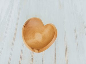 7 and 9 inch Beech Tear Drop Heart
