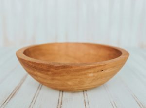 10-inch cherry wood individual dinner salad bowl