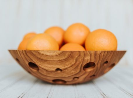 12-inch one-of-a-kind wood bowls, Cherry aerated bowl