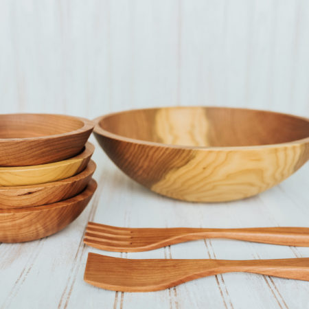 """12/"""" Wooden Salad Bowl  FREE SHIPPING US ONLY"""
