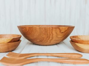 17-inch Solid Wooden Cherry Bowl Set