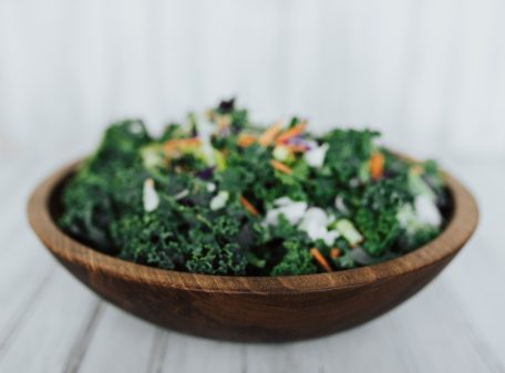 12-inch Beech Serving Bowl (with chopped salad)