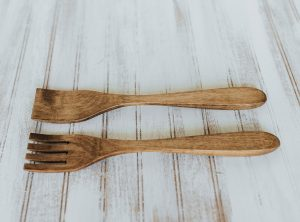 14-inch Large Beech Wood Utensils with Dark Walnut Finsh