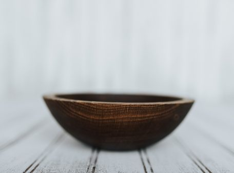 Small Wooden Side Salad Bowl | 7-inch Beech with Dark Walnut Finish