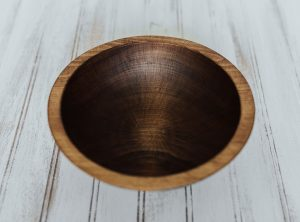 Wooden Side Salad Bowl | 8-inch Beech with Dark Walnut Finish