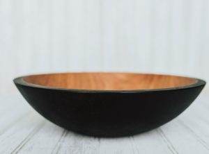 12-inch Ebonized Cherry Bowl – Bee's Oil Finish