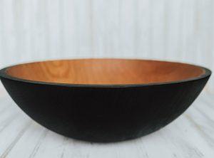 17 inch Ebonized Cherry Bowl – Bee's Oil Finish
