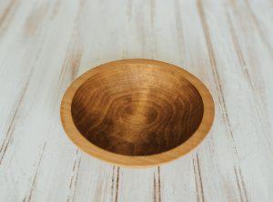 7 inch Beech Bowl with Light Walnut & Bee's Oil Finish