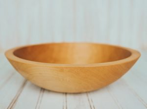 12-inch Maple Bowl with Bee's Oil Finish