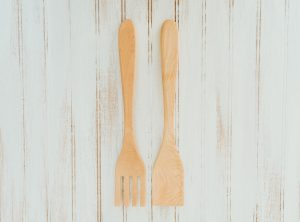 14 inch Maple Caesar Salad Utensil Set
