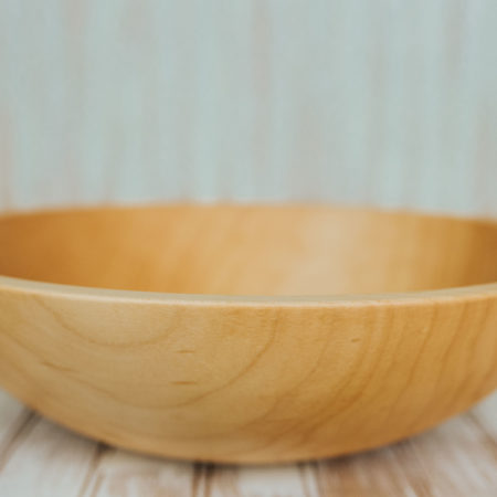 A 15-inch hard maple bowl