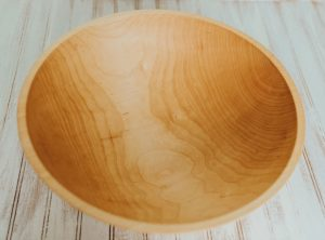 17 inch Maple Bowl – Bee's Oil Finish