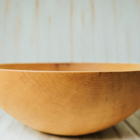 A 20-inch Maple bowl