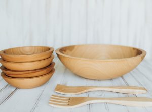 15 inch Beech Bowl Set with Bee's Oil Finish