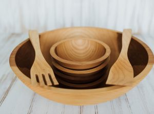 17 inch Beech Bowl Set with Bee's Oil Finish