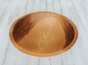12 inch Beech Bowl with Bee's Oil Finish