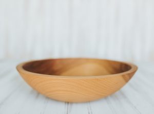 12 inch Beech Bowl – Bee's Oil Finish