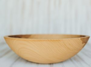 15 inch Beech Bowl – Bee's Oil Finish