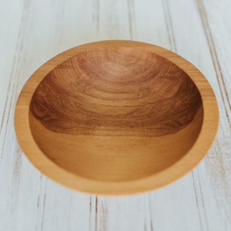 7-inch oil-finished wooden bowls made from Beech wood