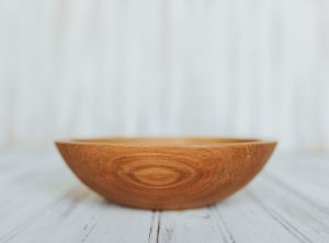 8-inch Beech oil-finished wooden bowl