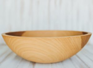 17-inch Beech Wood Large Dinner Salad Serving Bowl