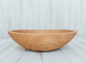 12 inch Northern Michigan Red Oak Salad Bowl with Bee's Oil Finish