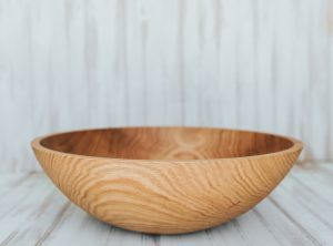 15 inch Northern Michigan Red Oak Serving Bowl with Bee's Oil Finish