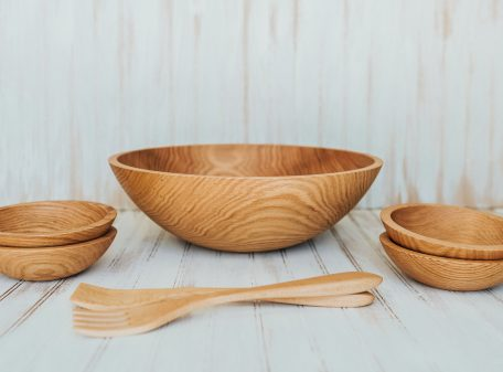 17 inch Northern Michigan Red Oak Serving Set
