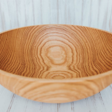 20 inch Northern Michigan Large Red Oak Bowl