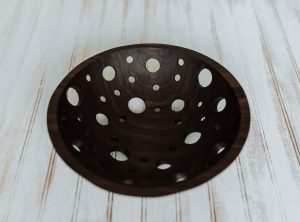 12-inch Solid Walnut Fruit Bowl