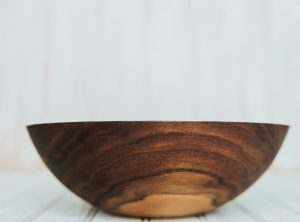 10 inch Walnut dinner salad bowl