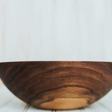 10 inch Walnut dinner salad bowl