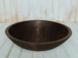 12 inch walnut bowl