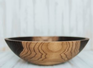 15 inch Walnut Bowl with Bee's Oil Finish