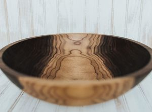 15 inch large walnut salad serving bowl