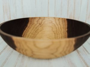 17 inch Large Serving Bowl with Bee's Oil Finish