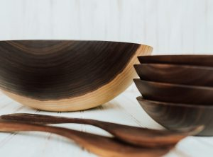 17-inch Walnut Bowl Set