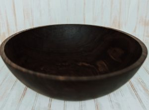 Dark walnut finish 20-inch large salad serving bowl