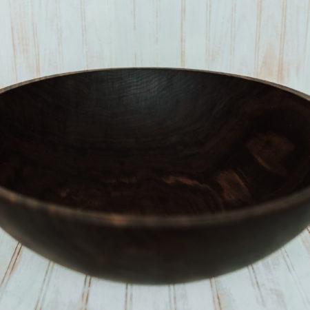 Dark walnut finish 20-inch large salad serving bowl