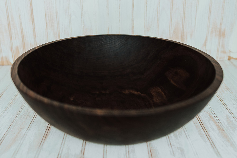 20 Inch Walnut Bowl With Bee S Oil Finish