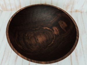 20 inch Walnut Bowl with Bee's Oil Finish