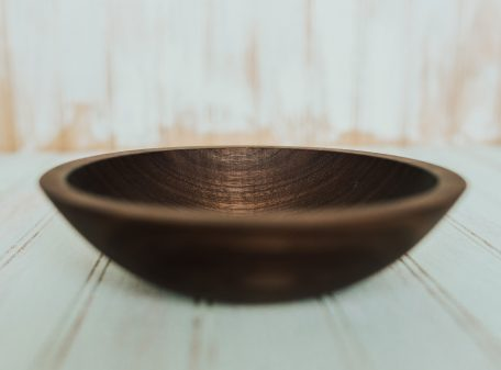 7 inch side salad bowl, walnut wood