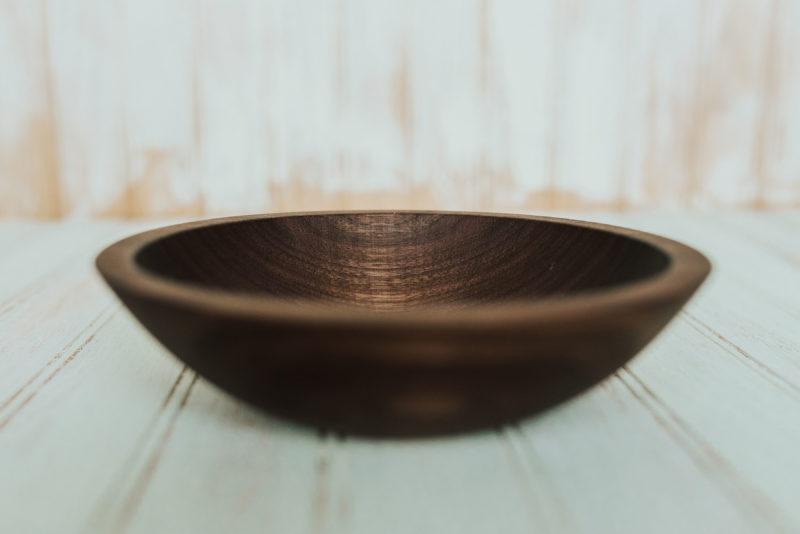 7 inch side salad bowl, walnut wood