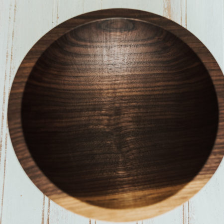 8 inch walnut serving bowl