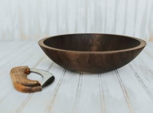 12 inch Walnut Chopping Bowl Set- Featured In 2017 Midwest Living Holiday Gift Guide