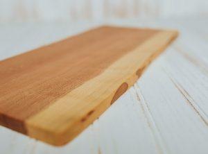 A Holland Bowl Mill cutting board. Wood cutting board bacteria