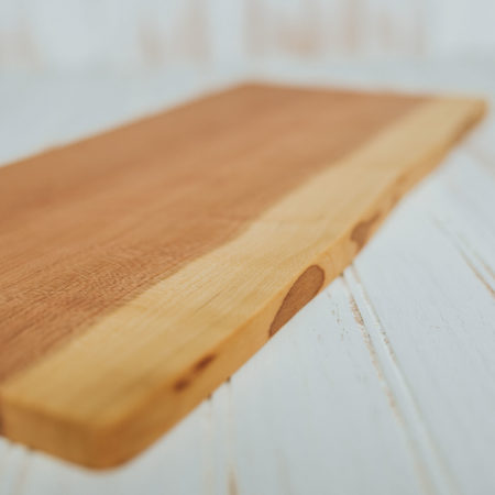 A Holland Bowl Mill cutting board. Wood cutting board bacteria