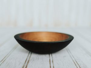 6-Inch Ebonized Cherry Bowl – Bee's Oil Finish