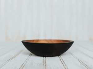 7-inch Ebonized Cherry Bowl – Bee's Oil Finish