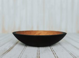 9-inch Ebonized Cherry Bowl – Bee's Oil Finish